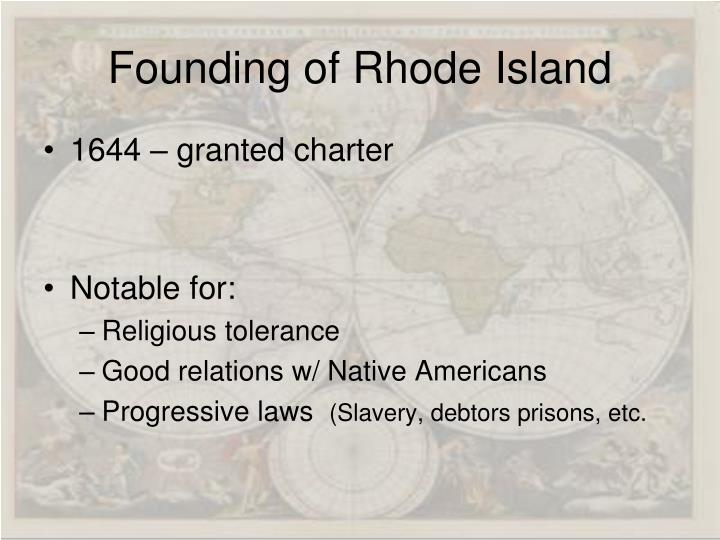 Founding of Rhode Island