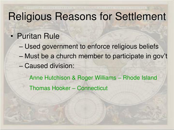 Religious Reasons for Settlement