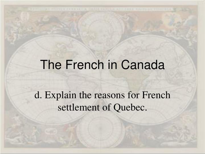 The French in Canada