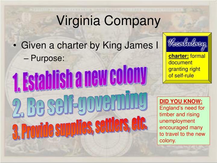 charter: