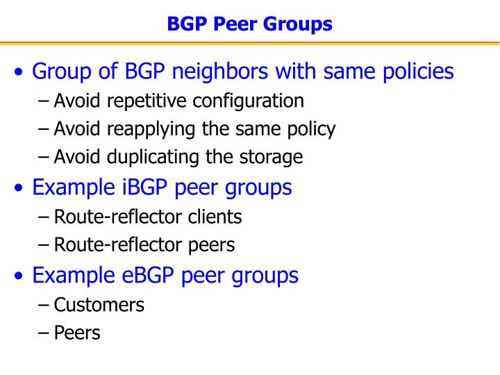 BGP Peer Groups
