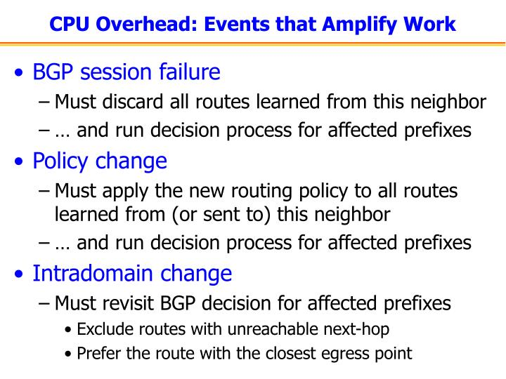 CPU Overhead: Events that Amplify Work