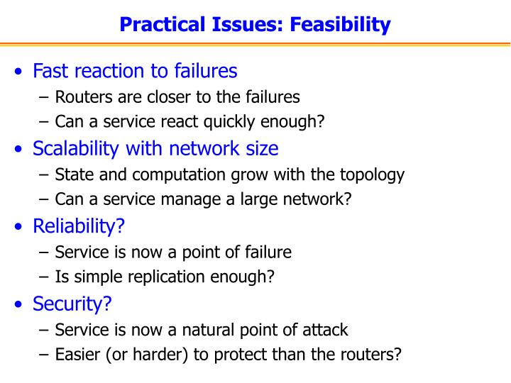 Practical Issues: Feasibility