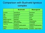 comparison with bushveld igneous complex