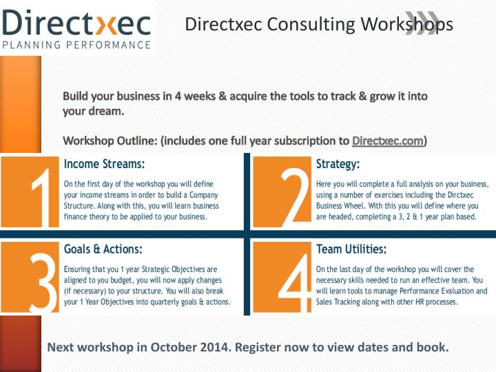 Directxec Consulting Workshops