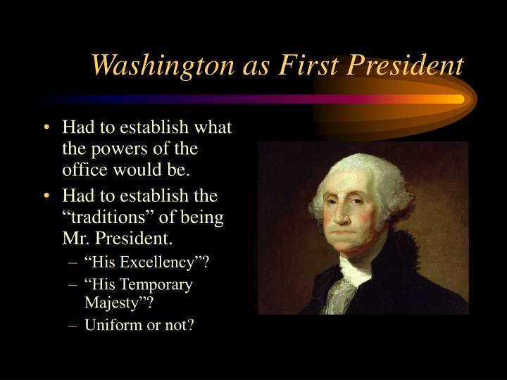 Washington as First President