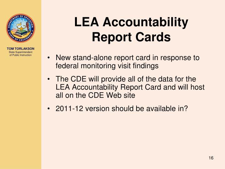 LEA Accountability