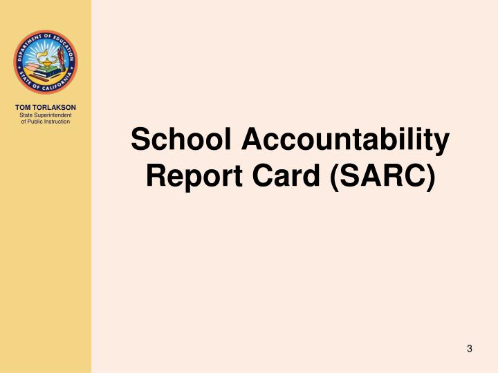 School accountability report card sarc