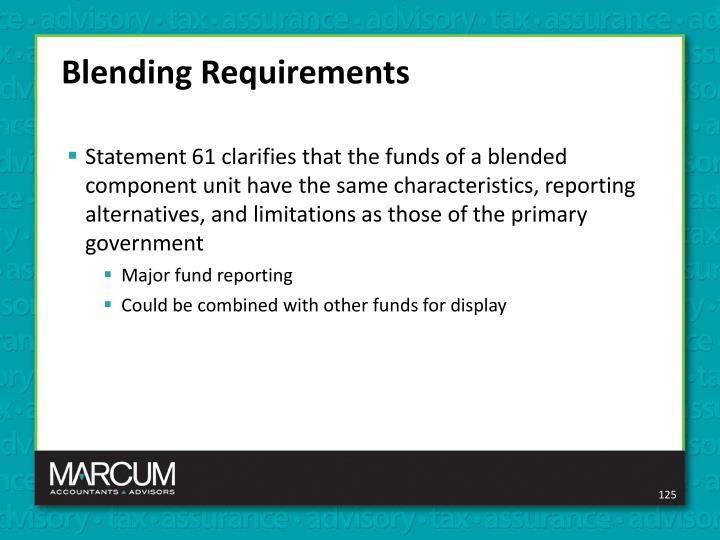 Blending Requirements