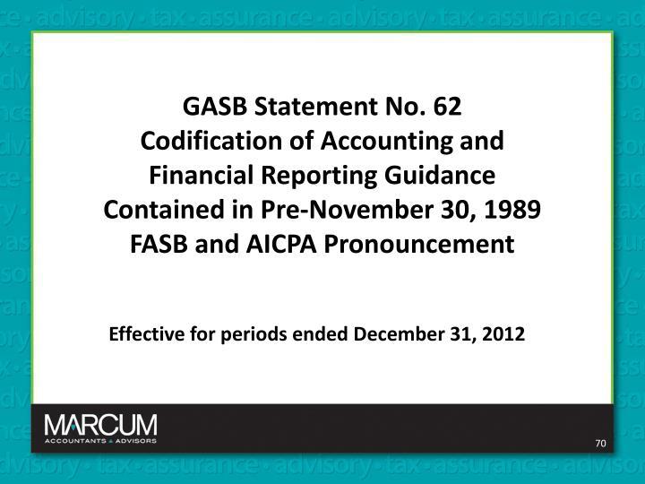 GASB Statement No. 62