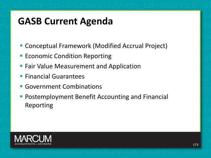 GASB Current Agenda