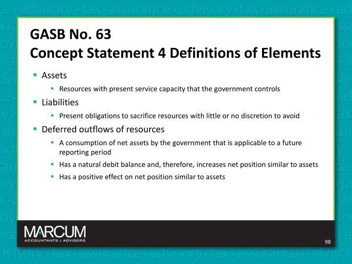 GASB No. 63