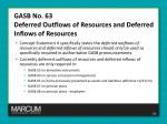 gasb no 63 deferred outflows of resources and deferred inflows of resources