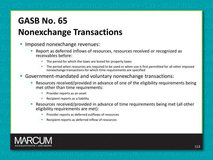 GASB No. 65