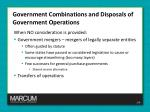 government combinations and disposals of government operations3
