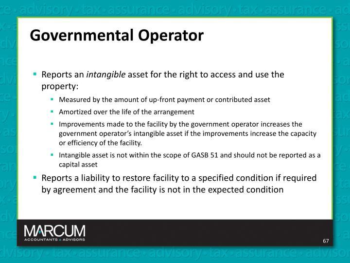 Governmental Operator