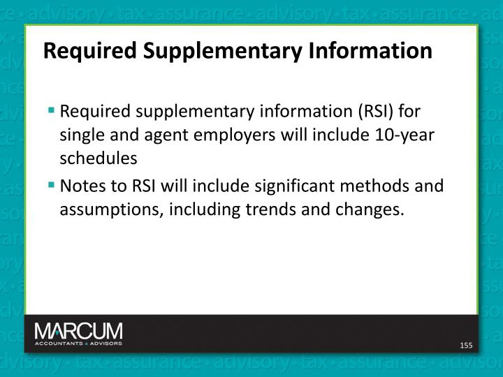 Required Supplementary Information