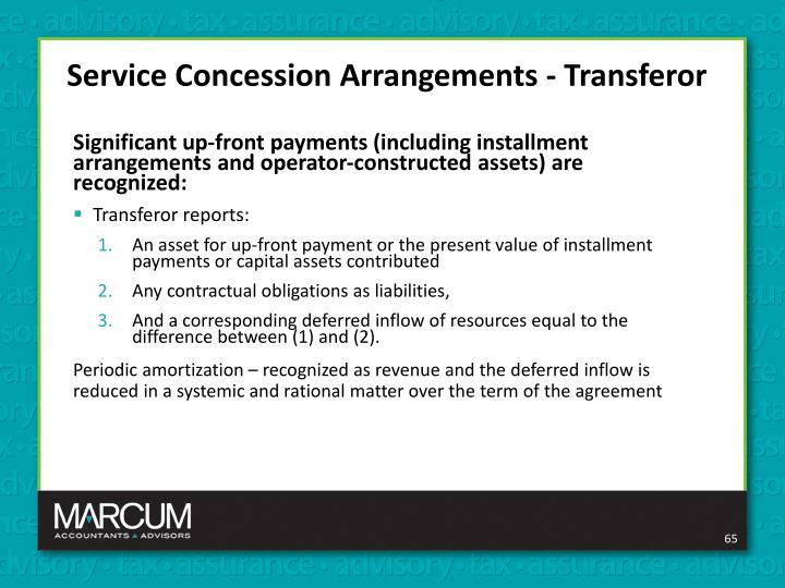 Service Concession Arrangements - Transferor