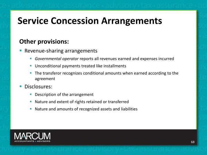 Service Concession Arrangements