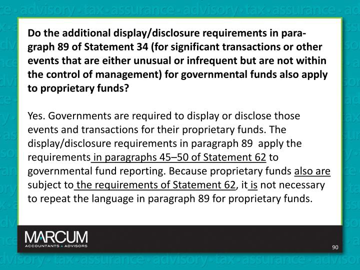 Do the additional display/disclosure requirements in