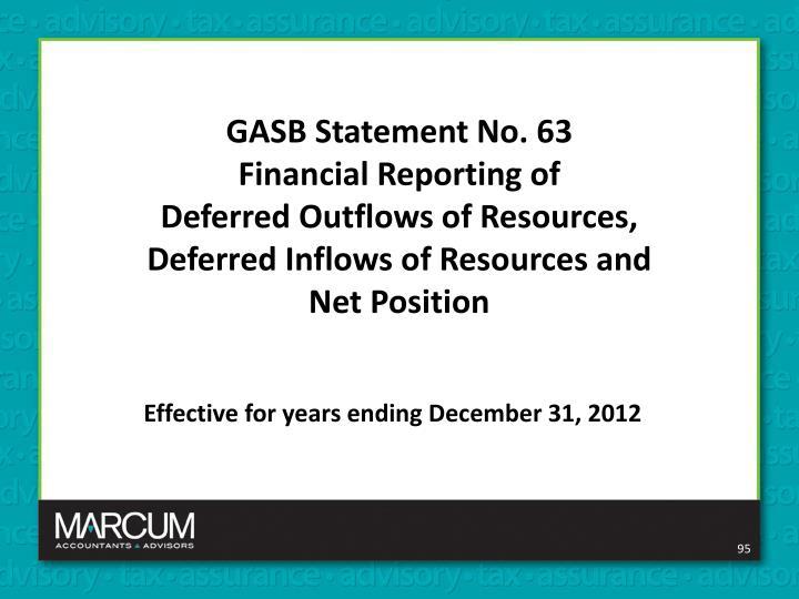 GASB Statement No. 63