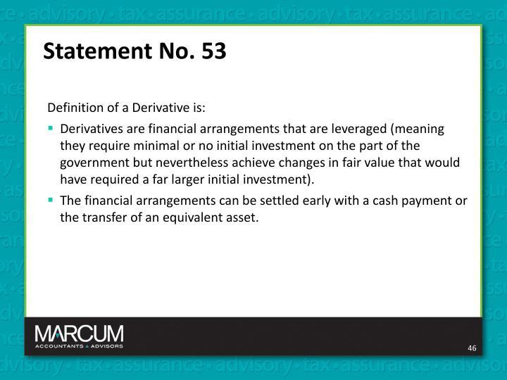 Statement No. 53