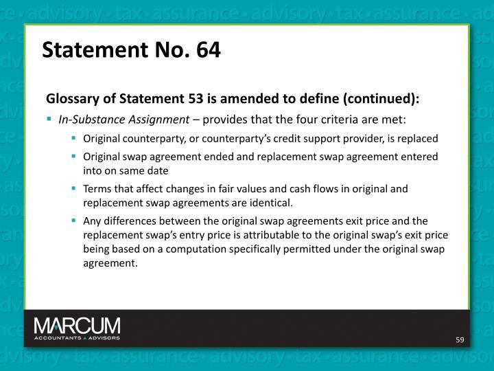 Statement No. 64