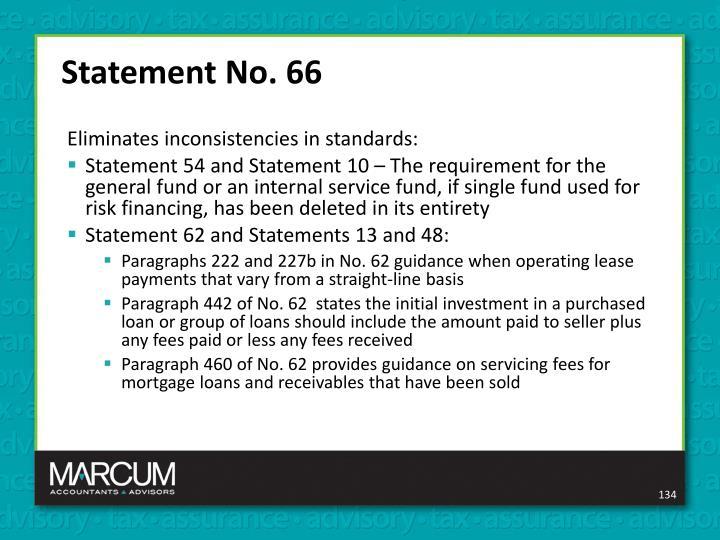 Statement No. 66