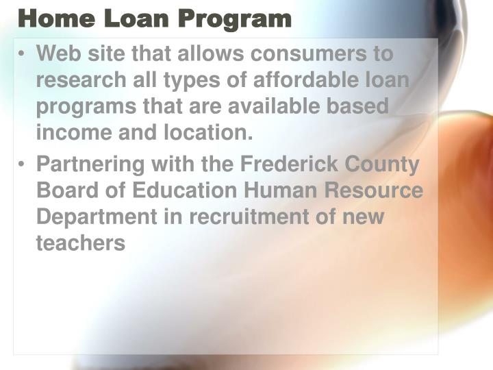 Home Loan Program