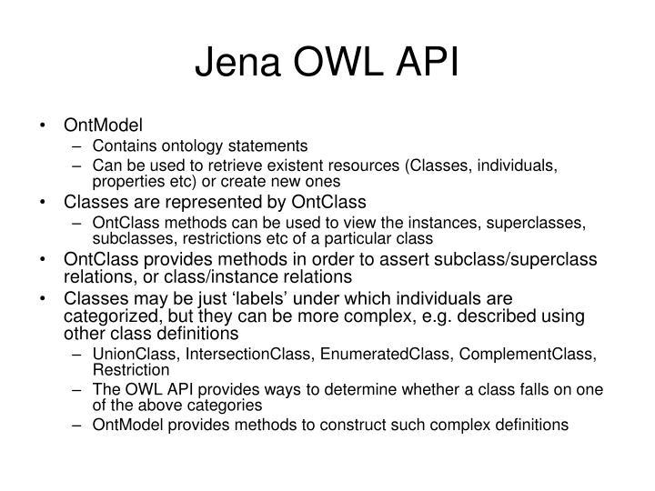 Jena OWL API