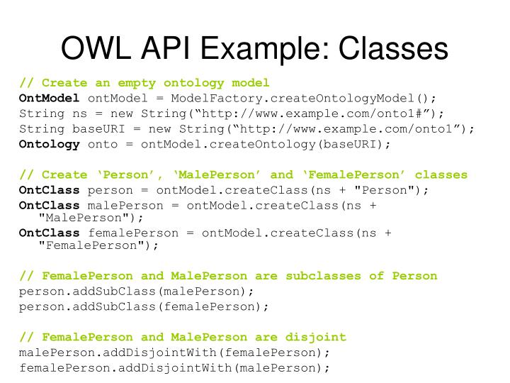 OWL API Example: Classes