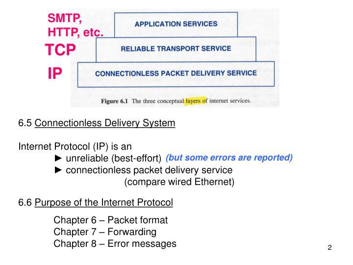 SMTP, HTTP, etc.
