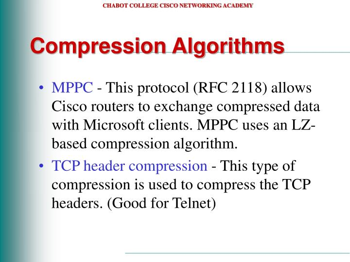 Compression Algorithms