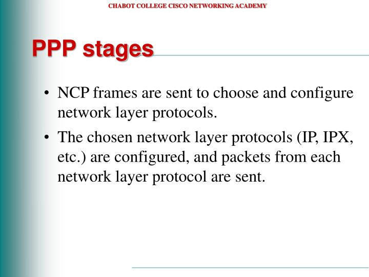 PPP stages