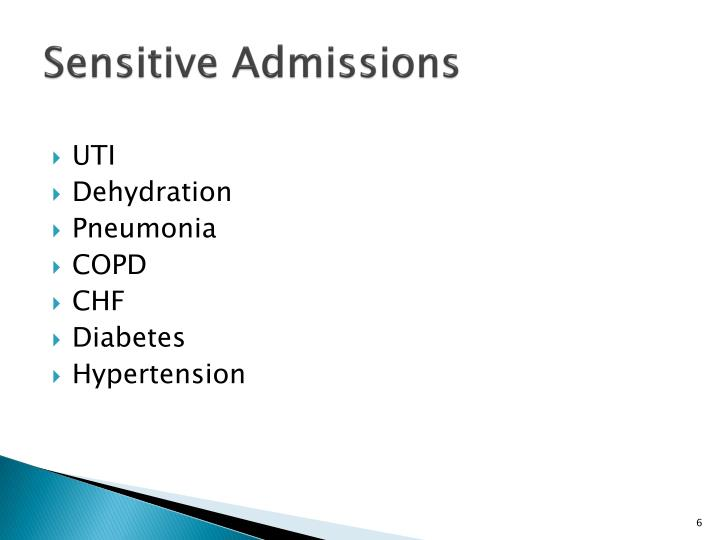 Sensitive Admissions