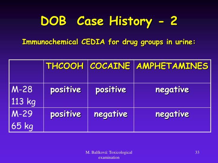 DOB  Case History - 2