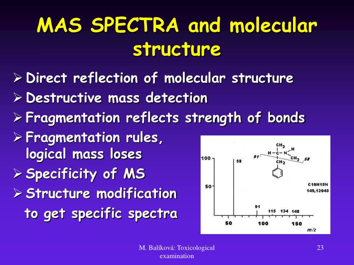 MAS SPECTRA and molecular structure