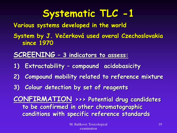Systematic TLC -1
