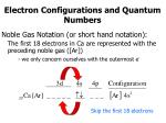 electron configurations and quantum numbers2