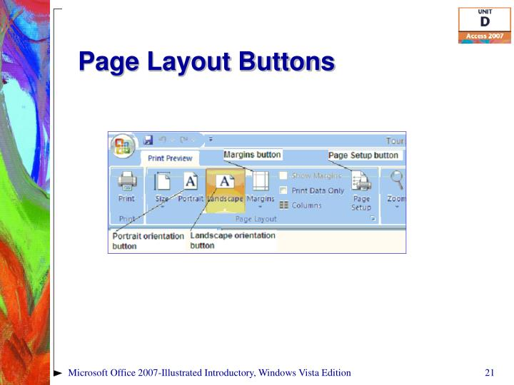 Page Layout Buttons