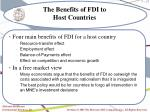 the benefits of fdi to host countries