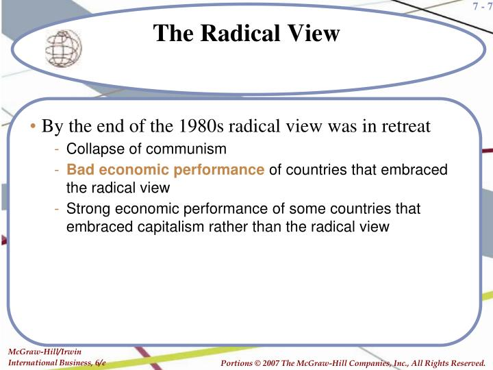 By the end of the 1980s radical view was in retreat
