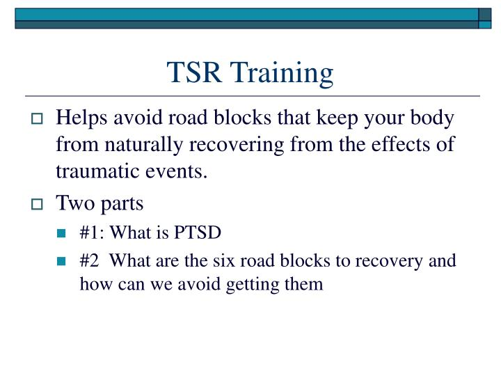 TSR Training