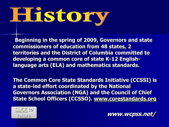 Beginning in the spring of 2009, Governors and state commissioners of education from 48 states, 2 te...