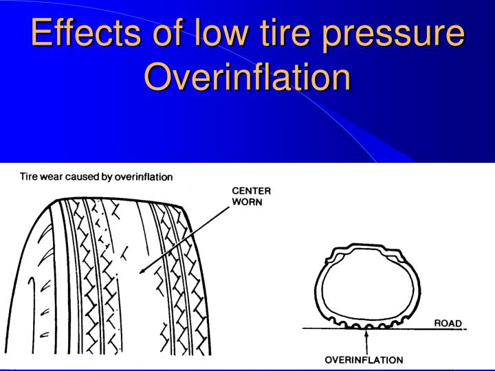 Effects of low tire pressure Overinflation