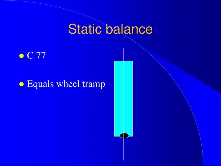 Static balance