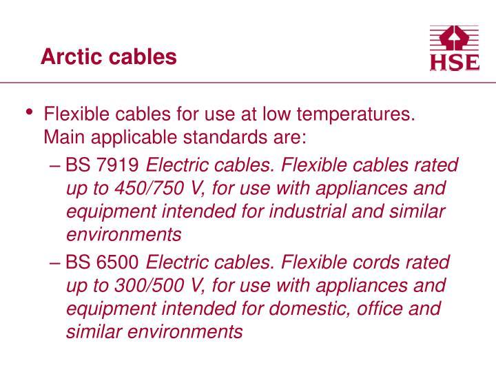 Arctic cables