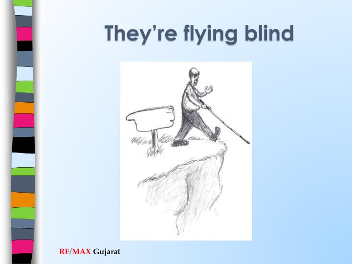 They're flying blind