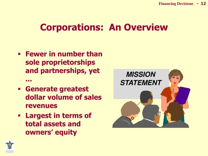 Corporations:  An Overview