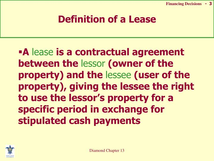 Definition of a Lease